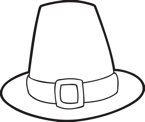 printable pilgrim hat coloring page  kids thanksgiving coloring pages  supplyme