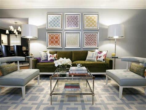 canape d angle marron décoration murale dans le salon en 25 idées tendance