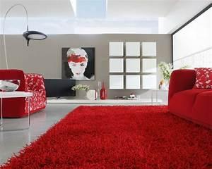 tapis salon tendance en 55 idees de formes tailles et With tapis rouge avec canapé corbusier