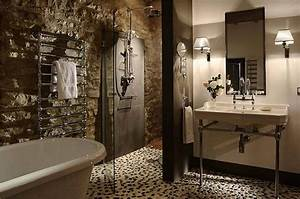 bathroom flooring ideas With using pebbles for unique natural decorating bathroom ideas