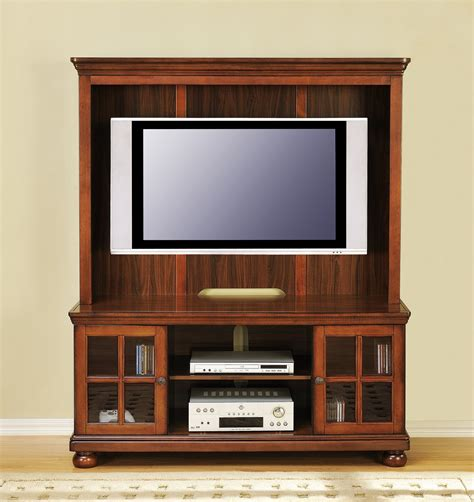 tv hutch free ship furnishings 50 quot flat screen traditional wood tv stand