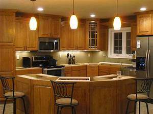 Beautiful stylish pendant lights over kitchen island for