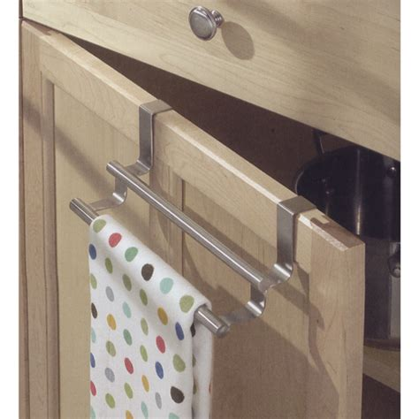 kitchen cabinet towel bar double over cabinet door kitchen towel bar in kitchen