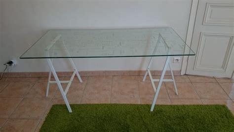 table de bureau en verre bureau ikea occasion clasf