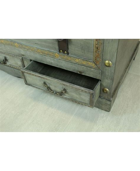 Get set for chest coffee tables at argos. Vintiquewise Rustic Gray Large Wooden Storage Trunk Coffee Table with Two Drawers & Reviews ...