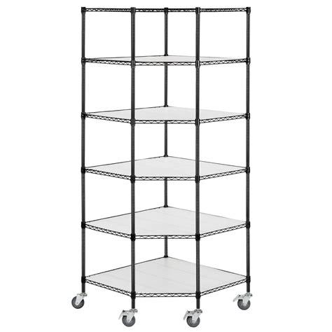 wire storage racks adjustable 6 tier corner unit storage steel shelf wire