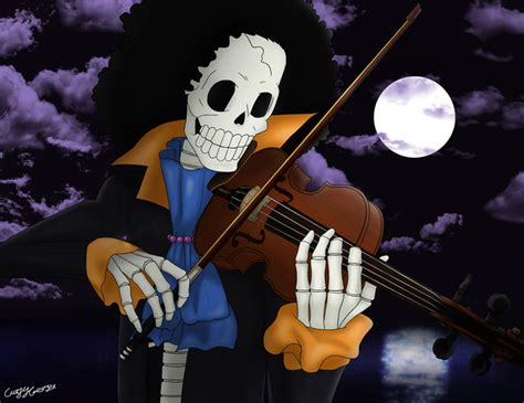 skeleton musician brook  crazycreators  newgrounds