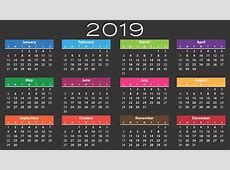 Calendar 2019 Agenda · Free vector graphic on Pixabay