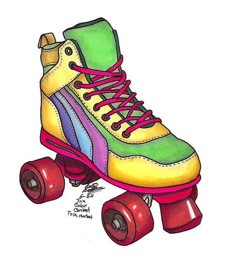 Skating Clip Roller Skate Clip Free Clipart Collection
