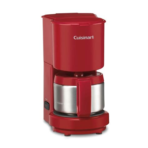 Expresso, cappuccino, latte, black coffee, etc. Shop Cuisinart DCC-450RFR Red 4-cup Coffee Maker (Refurbished) - Free Shipping On Orders Over ...