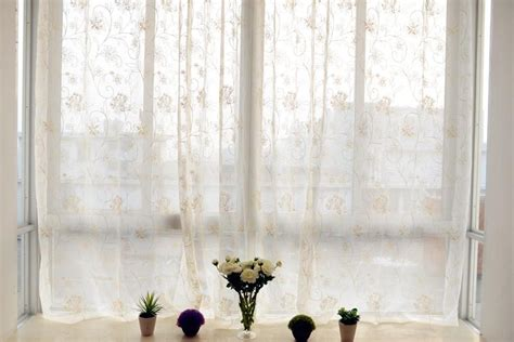 sheer cotton voile curtains country cotton embroidery floral eyelet sheer