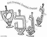 Hanukkah Coloring Printable Dreidel Dreidels Hop Symbols Four Sheets Colouring Lamp Oil Printables Artful Jewish Getcolorings Educators Families Students Resources sketch template