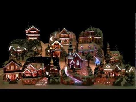 led lights for christmas village houses 9399 fiber optic led christmas house village youtube