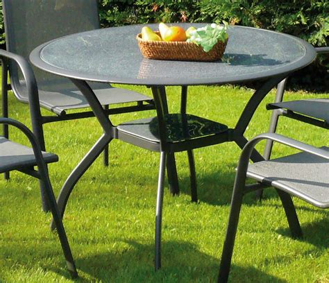 table et chaise de jardin en aluminium awesome table de jardin ronde grosfillex contemporary
