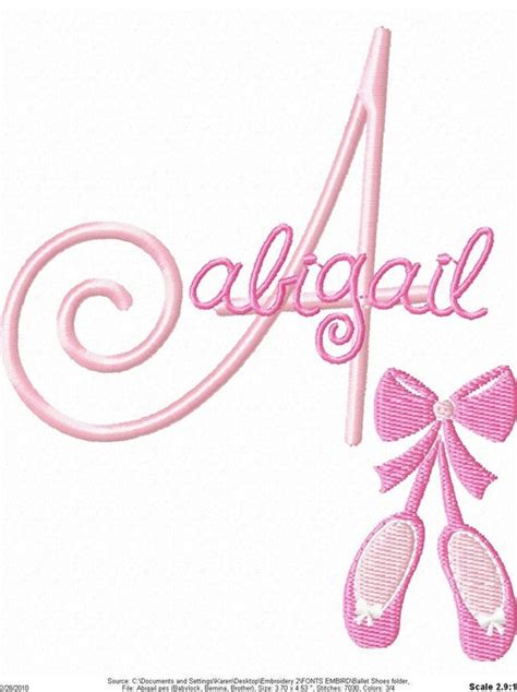 ballet shoes machine embroidery design  simplysweetembroider