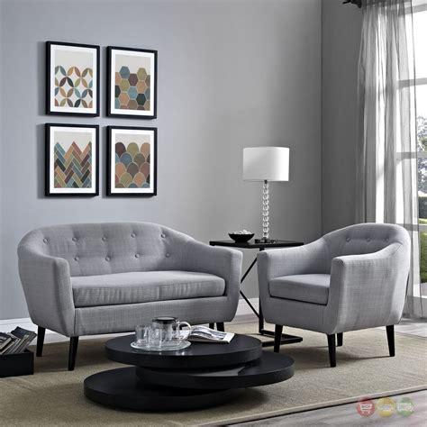 mid century modern wit contemporary pc living room set