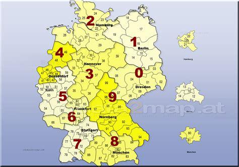Deutschlandkarte Postleitzahlenkarte Plz-1-2-stellig Orte