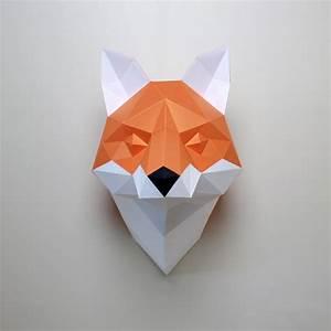 cecilia the fox diy paper craft animal kit resident