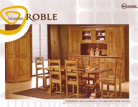 muebles roble