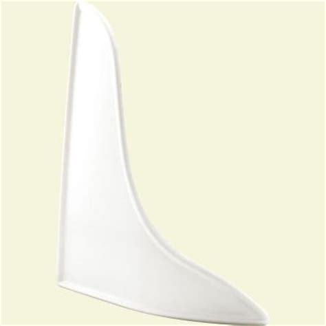 prime line curved white splash guard m 6086 the home depot