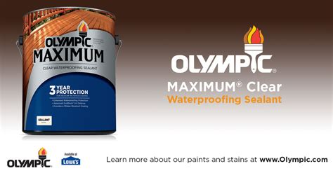 olympic deck sealer clear olympic 174 maximum 174 waterproofing sealant clear