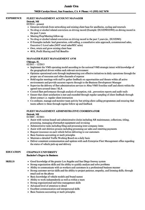 18642 sle manager resume template fleet manager resume 28 images fleet operation manager