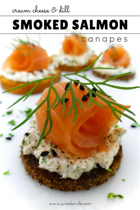salmon canapes smoked salmon canapes with cheese simple tasty