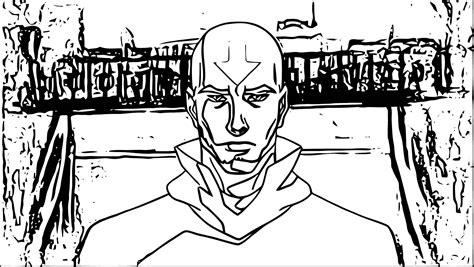 Older Aang Avatar Aang Coloring Page