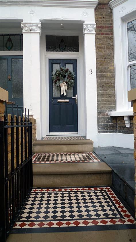 front garden victorian tile topairy bike bin store mosaic