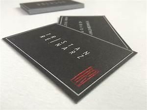Carte De Visite Original : tristan carte de visite original noire en papier cotton 600gr 13com ~ Melissatoandfro.com Idées de Décoration