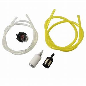 Chainsaw Fuel Filter Gas Line Primer Bulb Kit For