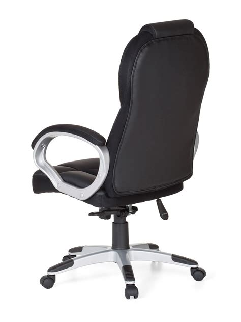 black office racing chair faux leather computer work desk