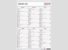Årsplan 2019 hos kalenderkungen