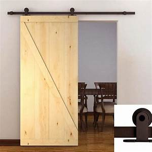 calhome 38 in x 84 in z bar 1 panel primed natural wood With 38 inch barn door