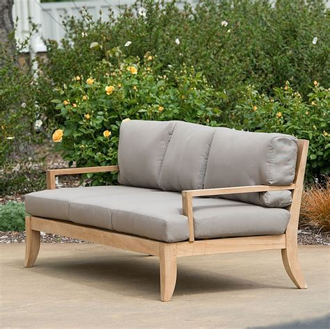 teak outdoor sofa monoco teak outdoor sofa thesofa