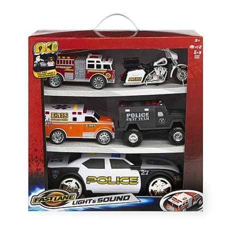 fast lane light and sound emergency vehicle gift set