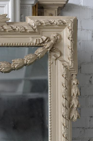 beautiful antique napoleon iii overmantel mirror wood