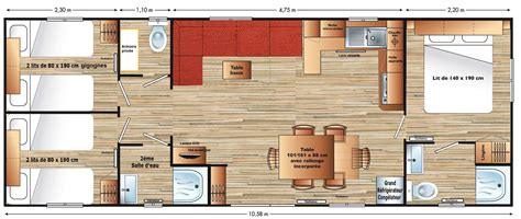 cing avec mobil home 4 chambres location d un mobilhome de 40m2 à onzain 41 location d