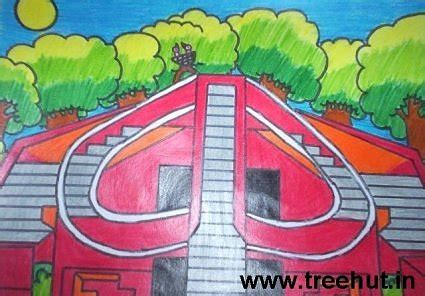 indian monuments art  kids
