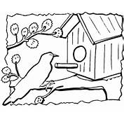 Birdhouse Coloring Page  Free Printable Pages