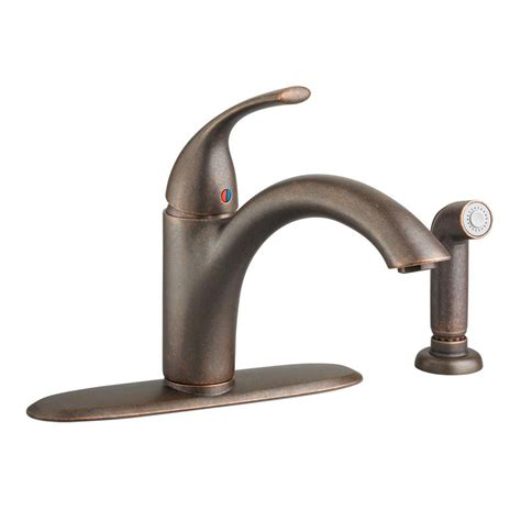 oil rubbed bronze sink sprayer american standard quince single handle standard kitchen