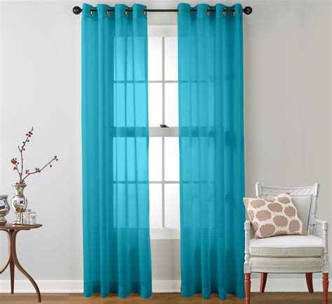 2 piece sheer window curtain grommet panels ebay