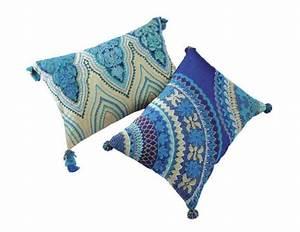 Maison Du Monde Coussin : bleus style indien x2 maison du monde ~ Teatrodelosmanantiales.com Idées de Décoration