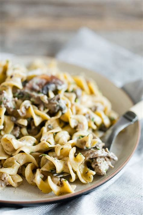 I haven't gone through the choices, but i'm sure you'll find something suitable. One Pot Ground Beef Mushroom Stroganoff   Nutmeg Nanny