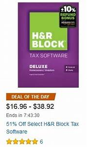 Amazon Gold Box Deal: Save 51% Off Select H&R Block Tax ...