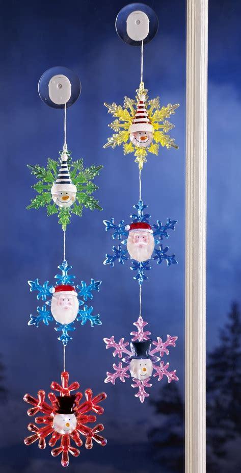 santa  snowmen color changing snowflakes light set