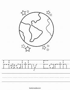 Healthy Earth Worksheet - Twisty Noodle