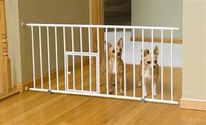 Best baby gate with cat or dog pet door 2017 review of for Dog fence for inside house