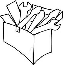 Tool Box Clip Art Black and White
