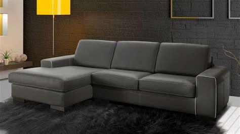canape d angle cuir gris canapé d 39 angle en cuir gris pas cher